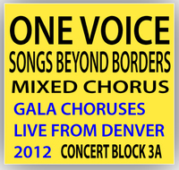 One Voice Mixed Chorus Concert Block 3A - Songs Beyond Borders: a musical journey around the globe!